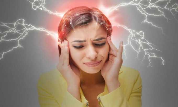 При использовании медикамента может наблюдаться следующая побочная симптоматика-мигрень