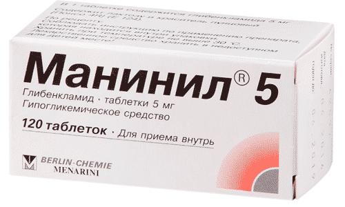 Манинил - аналог препарата Диабетон МВ