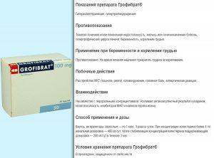 Инструкция к препарату Грофибрат