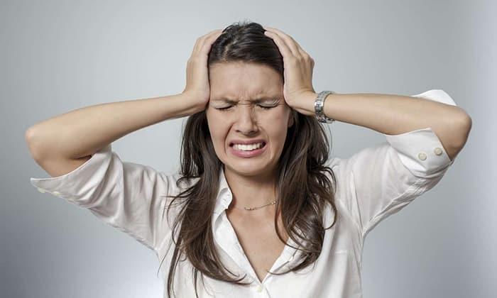 Могут возникать симптомы, которые указывают на снижение концентрации глюкозы в крови: мигрень, головокружение