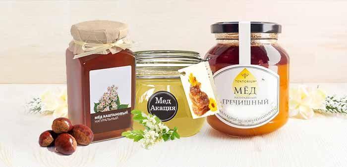 Гречишный, акациевый и каштановый мед