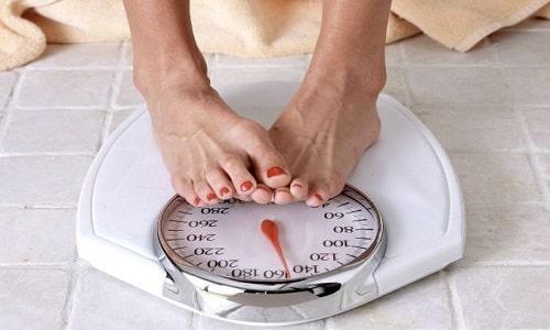 Во время приема препарата может наблюдаться снижение массы тела