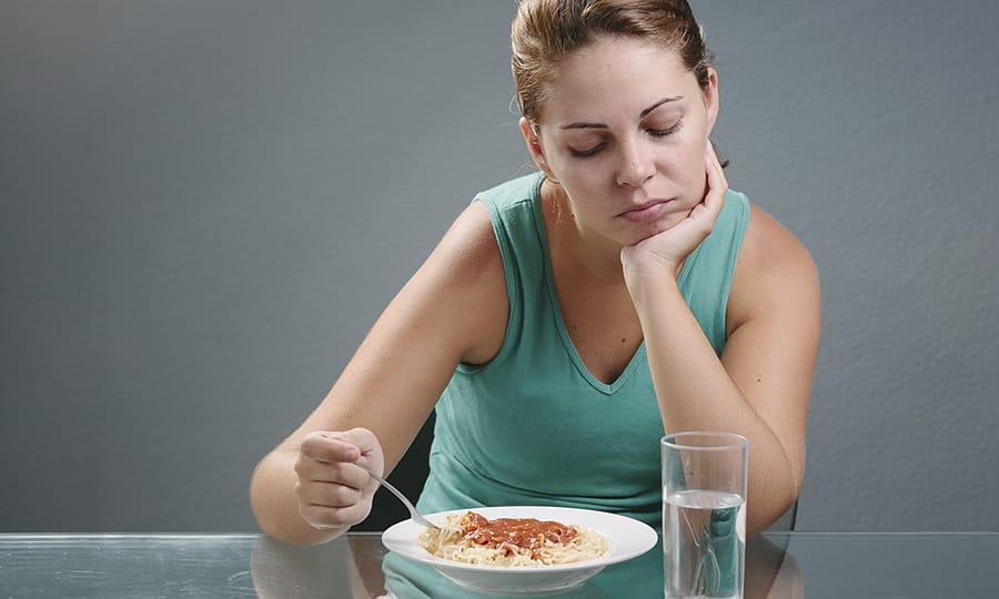 Во время терапии препаратом Кселевия возможна потеря аппетита