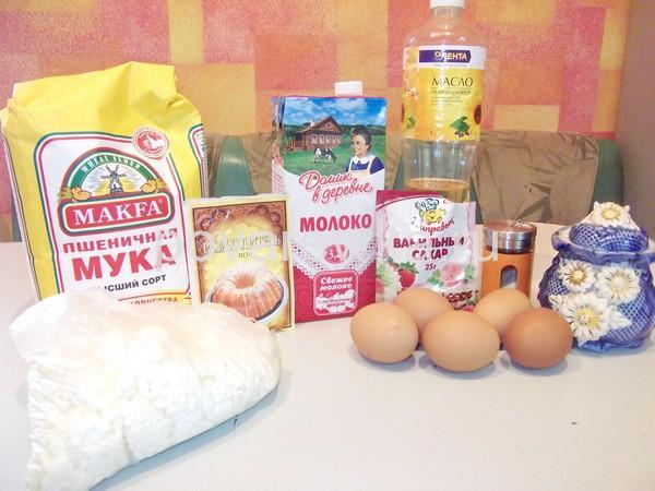 Продукты для творожных сырников