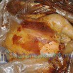 цыпленок, запеченный целиком в сметане