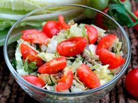 салат с помидором