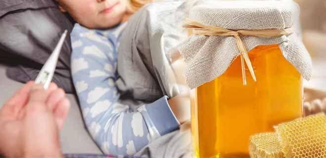 Мед при простуде детям