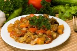 Овощное рагу с соевым соусом