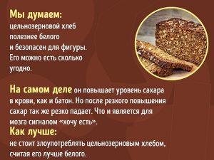 Особенности цельнозернового хлеба