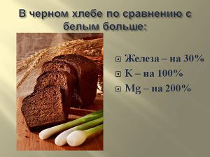 Польза черного хлеба