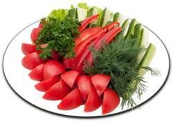 закуска из свежх овощей.при панкреатите